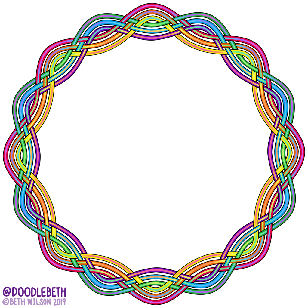 rainbow gay Pride Frame Knot