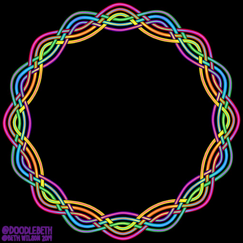 rainbow gay Pride Frame Knot